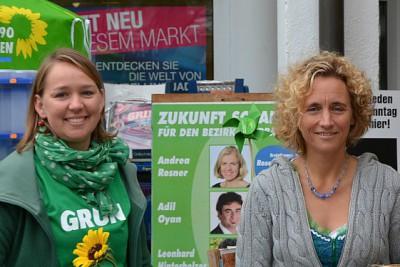 Janna Miller und Ulla Zeitlmann, Bundestagskandidatin